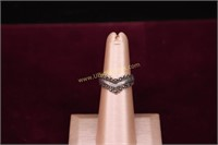 MARCASITE STERLING SILVER RING SZ.5