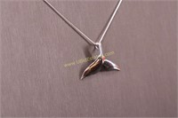 STERLING SILVER WHALE TALE NECKLACE