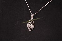 STERLING SILVER LOTUS BLOSSOM NECKLACE