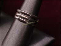 ESTATE STERLING SILVER RINGS.. TOTAL OF 5