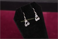 SCROLL STERLING SILVER EARRINGS