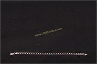 "STERLING SILVER CHARM BRACELET 7.5""L"