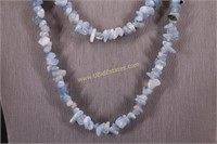 BLUE STONE NECKLACE & BRACELET SET