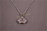 STERLING SILVER CROWN NECKLACE