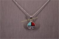 INLAY STERLING SILVER NECKLACE