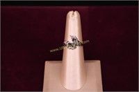 STERLING SILVER UNICORN RING SZ.6