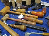 Lot of leather tools