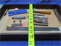 Lot: machinist tools -needle files -chuck -etc