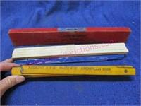 Vintage folding ruler -small level -slide rule