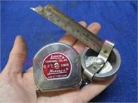Vintage Lufkin measuring tape & other tape