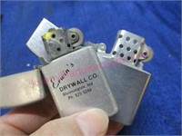 (2) Vintage lighters (Erwin's drywall co.)