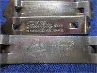 "(3) ""Falls city beer"" & (1) ""Falstaff"" can openers"