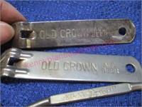 """(4) Vintage bottle / can openers (""""old crown beer)"""