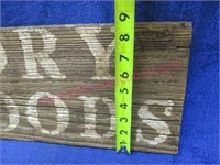 """""""Dry Goods"""" wooden sign"""