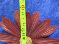 (2) metal flowers - 15in wide