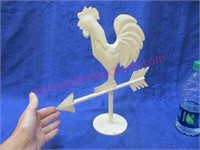Decorative metal rooster tabletop weathervane