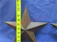(2) smaller metal stars - 11in tall