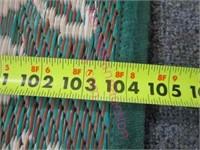 Outdoor / indoor rug - 71in x 105in (lightweight)