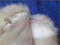 (2) vintage ladies' fur wraps (white & tan)