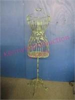 Decorative metal dress form - 51in tall