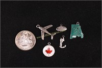 STERLING SILVER TRAVEL CHARMS
