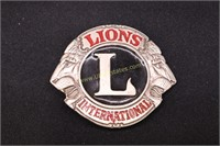 LIONS  CLUB INTERNATIONAL BELT BUCKLE