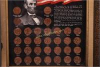 VTG FRAMED LINCOLN MEMORIAL COINS