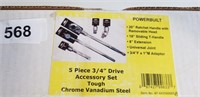 "Powerbuilt 5pc. 3/4"" Drive Accessory Set w/"