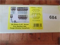 "Powerbuilt 20pc. 3/8"" Drive Socket Set (Standard)"