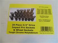 "Powerbuilt 20pc. 3/4"" Impact Sockets &"