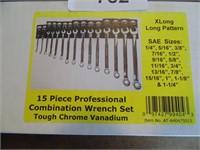 Powerbuilt 15pc. XLong Combination Wrench Set
