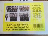 "Powerbuilt 25pc. 3/8"" Impact Socket Set"