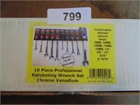 Powerbuilt 10pc. Ratcheting Wrench Set