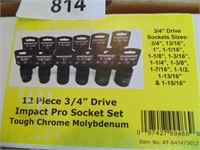 "Powerbuilt 3/8"" Impact Socket Set (Standard)"