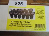 "Powerbuilt 12pc. 3/4"" Drive Socket Set (Standard)"