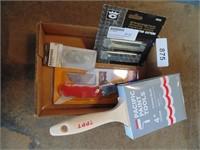"""4"""" Paint Brush & Utility Knife"""