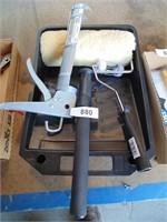 Caulking Gun, Paint Pan, Paint Roller