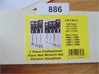 Powerbuilt 7pc. Flare Nut Wrench Set