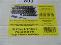 "Powerbuilt 59pc. 1/2"" Drive Socket Set"