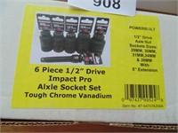 Powerbuilt 6pc. Axle Socket Set
