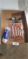 5pc. Ratcheting Box Wrench, Rope, Etc.