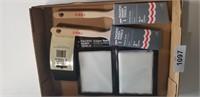 """(2) 2"""" Paint Brushes, Edger Refill, Sanding Block"""