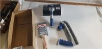Paint Edger, 2-Handled Stainless Steel Brush, +