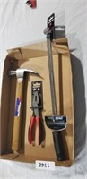 """Torque Wrench, Hammer, 7"""" Linesman Pliers"""