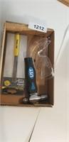 Ball Peen Hammer, Coal Chisel, Safety Glasses