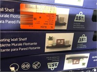 "Floating Wall Shelf (Black) (18""x6""x2"", 15lb Cap.)"