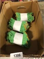 (3) Dozen Gloves - Green