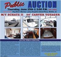 2006 CARVER 56' VOYAGER MEGA YACHT PUBLIC AUCTION
