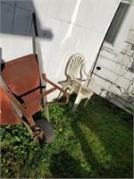 Ladder, Grill, Picnic Table, Wheelbarrow & Misc