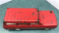 """Vintage Tonka Fire Chief Toy Jeep 9"""" long"""